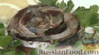 Фото к рецепту: Скумбрия сухого посола, под гнётом (быстрого приготовления)