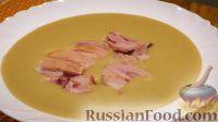 Фото к рецепту: Гороховый суп-пюре с копченостями