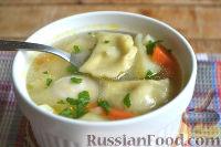 Фото к рецепту: Суп с пельменями