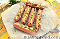 Фото приготовления рецепта: Сосиски, запеченные с сыром - шаг №8