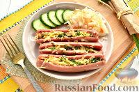 Фото приготовления рецепта: Сосиски, запеченные с сыром - шаг №9