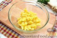 Фото приготовления рецепта: Винегрет с сельдью и яблоками - шаг №2