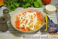 Фото приготовления рецепта: Кальмары, фаршированные тыквой и рисом - шаг №6