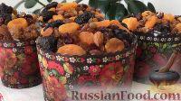 Фото к рецепту: Пасхальный кулич с сухофруктами и орехами