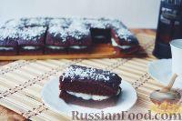 Фото приготовления рецепта: Шоколадные пирожные с заварным кремом - шаг №7