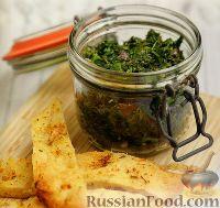Фото к рецепту: Чатни из шпината с маслинами