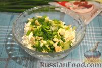 Фото приготовления рецепта: Кальмары, фаршированные творогом и креветками - шаг №4