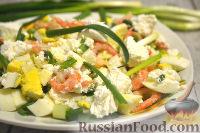 Фото к рецепту: Салат с креветками и сыром фета
