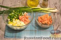 Фото приготовления рецепта: Салат с креветками и сыром фета - шаг №6