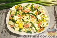 Фото приготовления рецепта: Салат с креветками и сыром фета - шаг №7
