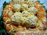 """Фото к рецепту: Мясной салат """"Гнездо глухаря"""""""