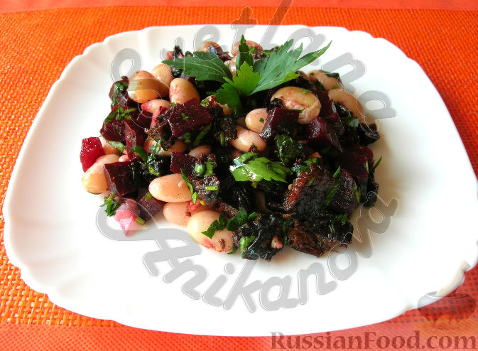 салат постный рецепт с картошкой свёклой