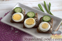 Фото приготовления рецепта: Бутерброды с килькой и яйцом - шаг №6