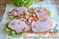 Фото приготовления рецепта: Ролл с ветчиной и сливочным сыром - шаг №8