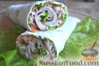 Фото приготовления рецепта: Ролл с ветчиной и сливочным сыром - шаг №10