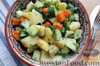 Фото к рецепту: Постный салат «Деревенский»