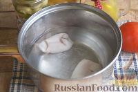 Фото приготовления рецепта: Салат с кальмарами, ветчиной и грибами - шаг №2