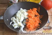 Фото приготовления рецепта: Салат с кальмарами, ветчиной и грибами - шаг №5