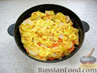 Фото к рецепту: Хек на овощной подушке