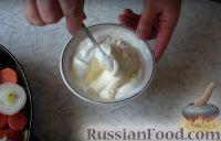 Фото приготовления рецепта: Хек на овощной подушке - шаг №5
