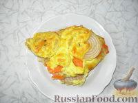 Фото приготовления рецепта: Хек на овощной подушке - шаг №7