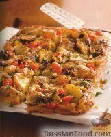 Фото к рецепту: Слойка с овощами и сыром