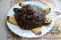 Фото к рецепту: Торт «Черепаха» с йогуртовым кремом