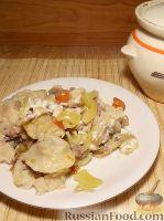 Фото к рецепту: Пельмешки в горшочке