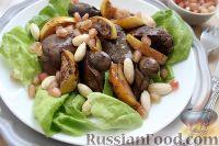 Фото к рецепту: Теплый салат из куриной печени