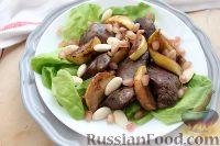Фото приготовления рецепта: Теплый салат из куриной печени - шаг №6