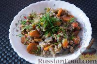 Фото к рецепту: Гречка с печенью и овощами (в мультиварке)