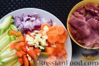 Фото приготовления рецепта: Гречка с печенью и овощами (в мультиварке) - шаг №1