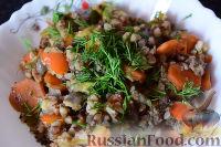 Фото приготовления рецепта: Гречка с печенью и овощами (в мультиварке) - шаг №5