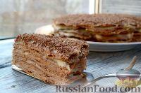 """Фото к рецепту: Торт """"Наполеон"""" шоколадный"""