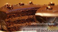Фото к рецепту: Простой шоколадный бисквитный торт