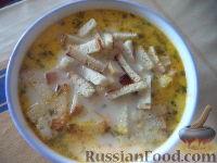 Фото к рецепту: Суп из плавленных сырков с луком
