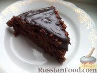 """Фото к рецепту: Шоколадная глазурь """"4 ложки"""" (для тортов)"""