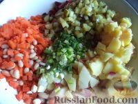 Фото приготовления рецепта: Винегрет с фасолью и сладким перцем - шаг №7