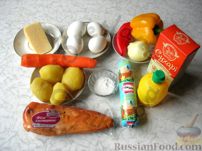 """Фото приготовления рецепта: Салат """"Пасхальный кулич"""" - шаг №1"""