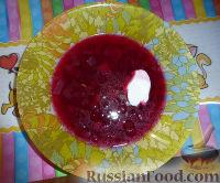 Фото к рецепту: Свекольник горячий постный