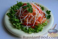 Фото к рецепту: Салат из свежей капусты, сладкого перца и редьки