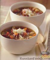 Фото к рецепту: Густой суп с фасолью и помидорами
