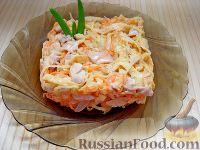 Фото к рецепту: Салат с курицей и редькой