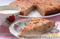 Фото к рецепту: Творожный кекс с лимоном и орехами