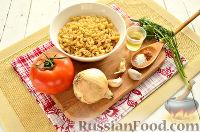 Фото приготовления рецепта: Макароны, тушенные в сковороде - шаг №1