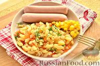 Фото приготовления рецепта: Макароны, тушенные в сковороде - шаг №9