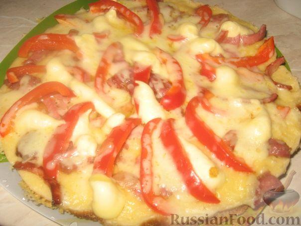 Рецепт Домашняя пицца на скорую руку