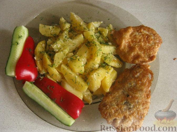 Рецепт Куриные биточки с картошкой