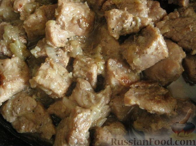 Рецепт Свинина, тушенная в собственном соку