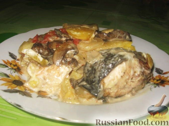 Рецепт Семга, запеченная с овощами